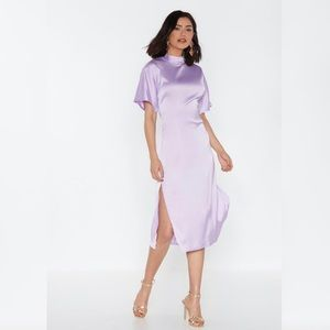 Love is in the Air Satin Midi Dress